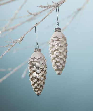 Mercury Glass Pinecone Ornament