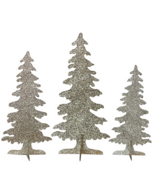 Platinum Silhouette Forest - Set of 3