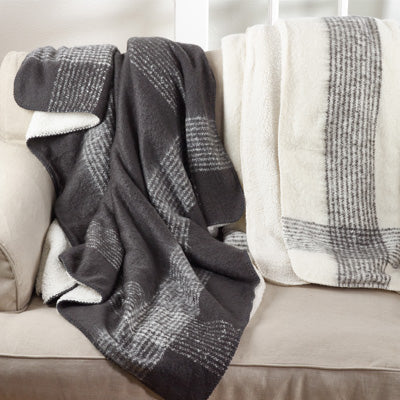 Linework Gray Throw