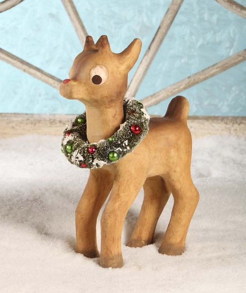 Retro Red Nosed Reindeer