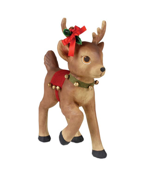 Retro Reindeer with Bells