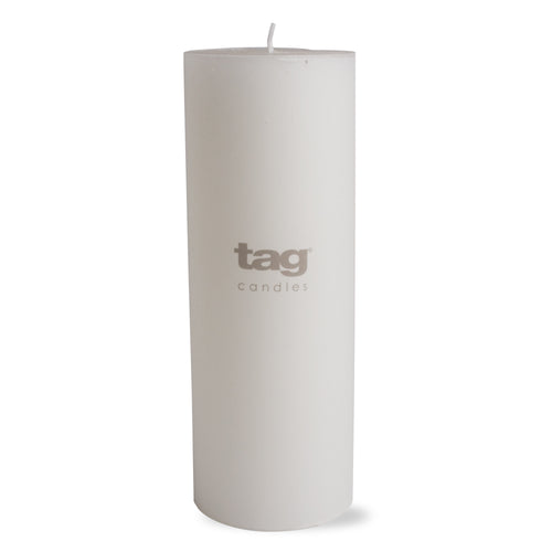 Chapel Pillar Candle - White 3x8 by Tag