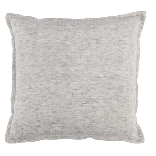 Dove Gray Linen Throw Pillow