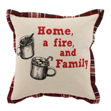 Home and Family Throw Pillow