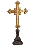 Gold Tabletop Cross