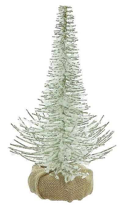 Snow & Mica Tree with Burlap Base