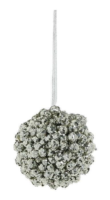 Platinum Glitter Bumpy Ball Ornament