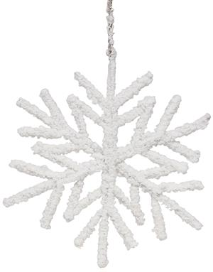 Hanging Flocked Snowflake