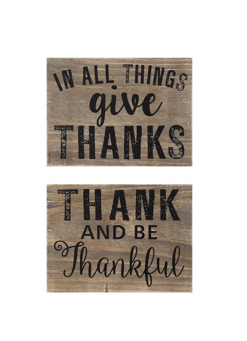 Wooden Thanksgiving Block Sign