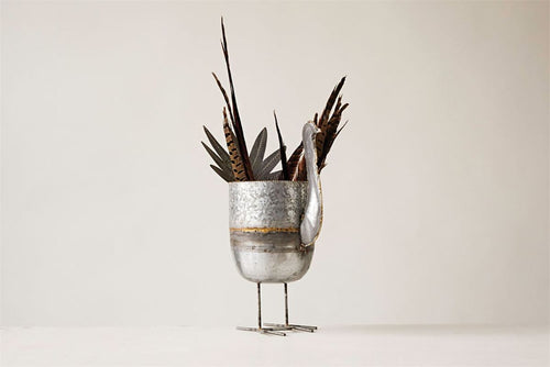 Galvanized Metal Turkey Planter