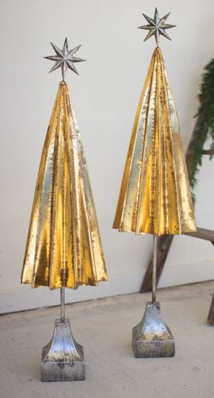 Folded Gold Metal Tree