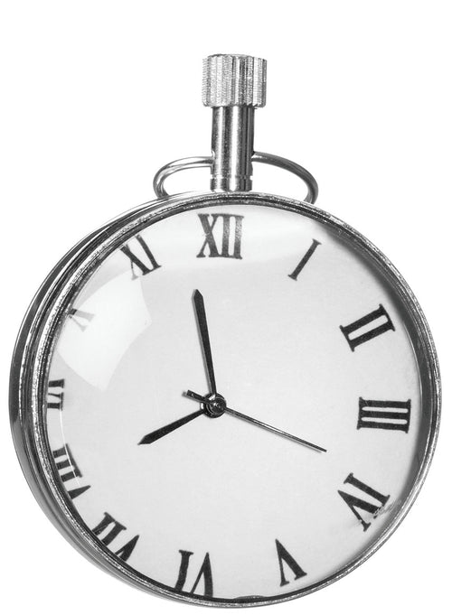 Glass & Nickel Table Clock