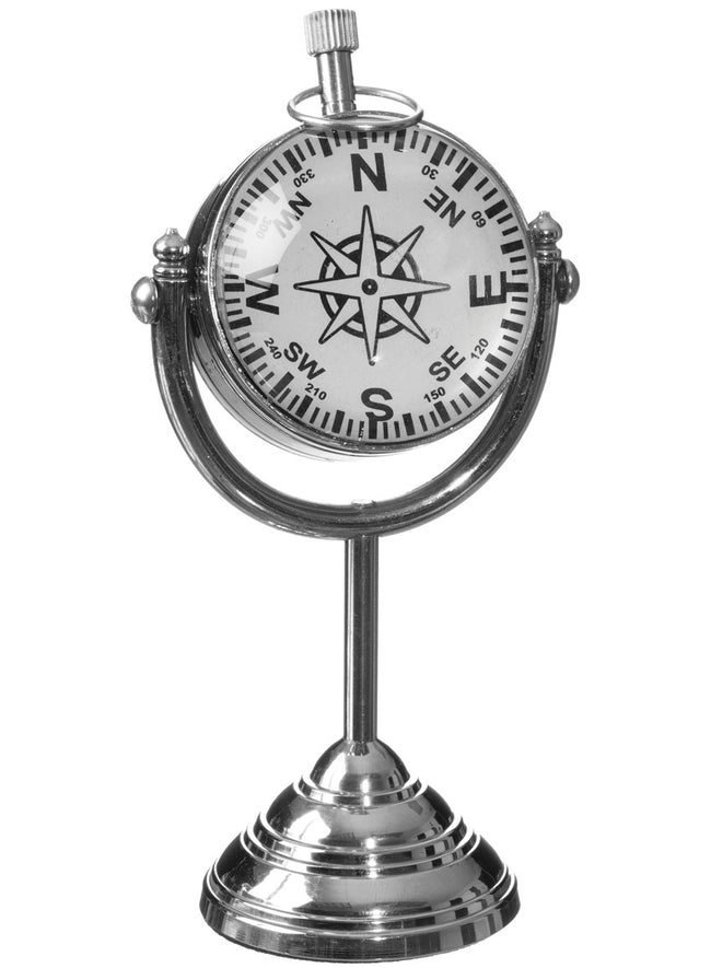 Glass & Nickel Clock on Stand