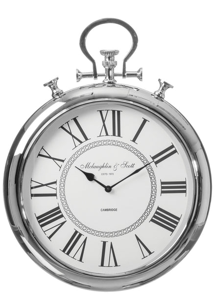 "21"" Nickel Pocket Watch Wall Clock"