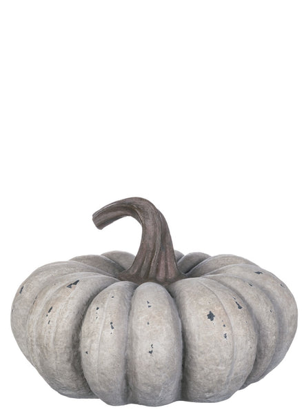 Gray resin pumpkin small