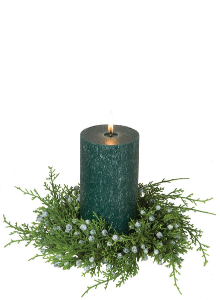 Juniper candle wreath