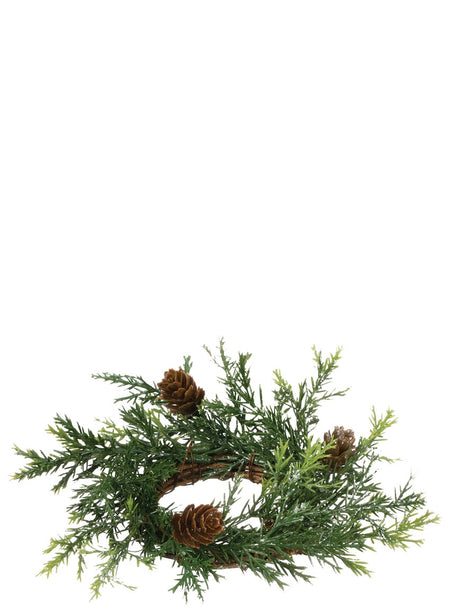 Flocked Cedar Spray