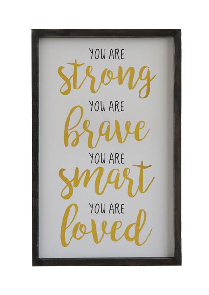 You Are Strong Wooden Wall Art