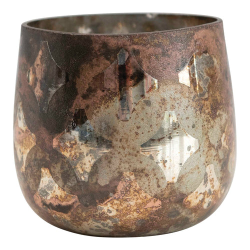 Copper Mercury Glass Votive