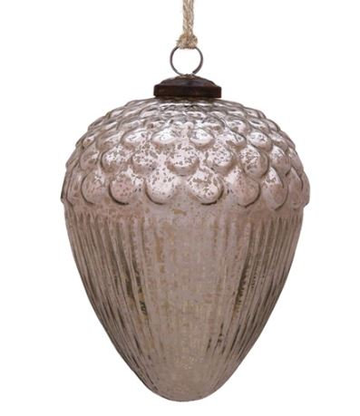 Mercury Glass Acorn Ornaments