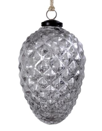 Mercury Glass Pinecone Ornaments