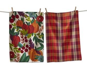 Harvest Pumpkin Dishtowel Set