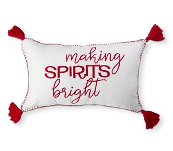 Making Spirits Bright Throw Pillow