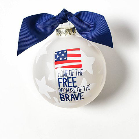 Home Of The Free Glass Ornament