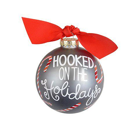 Hooked on the Holidays Glass Ornament
