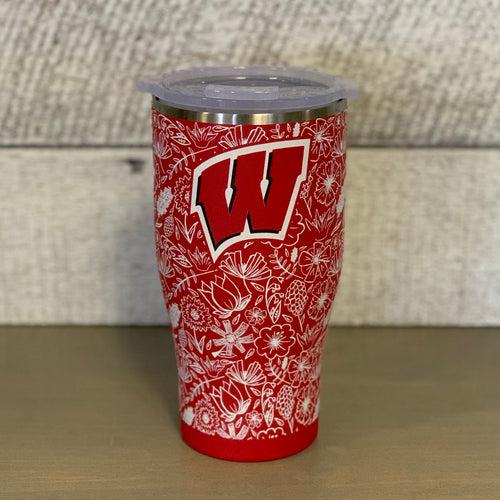 Wisconsin Badgers Floral Orca Chaser
