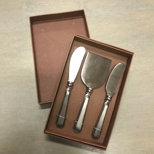 Antique Silver Cheese Server Set