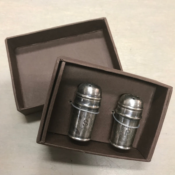 Old Silver Salt and Pepper Set