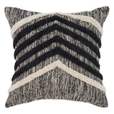 Black & Ivory Chevron Pillow