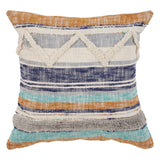 Boho Funky Striped Pillow