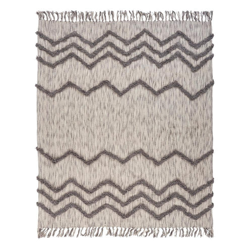 Gray Chevron Woven Throw