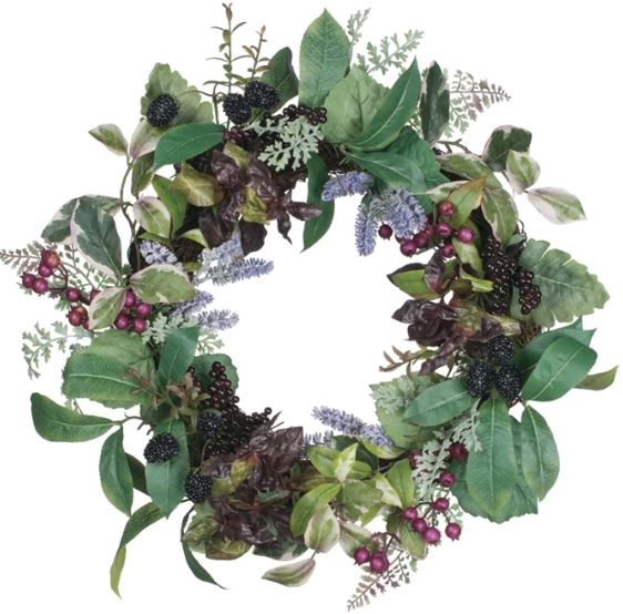 Lavender and Berry Wreath - 20""