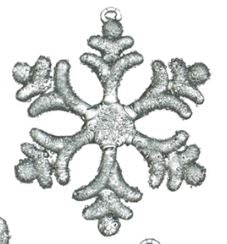 Iced Snowflake Ornaments