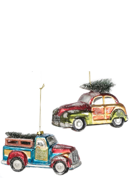 Christmas Vehicle with Tree Ornament