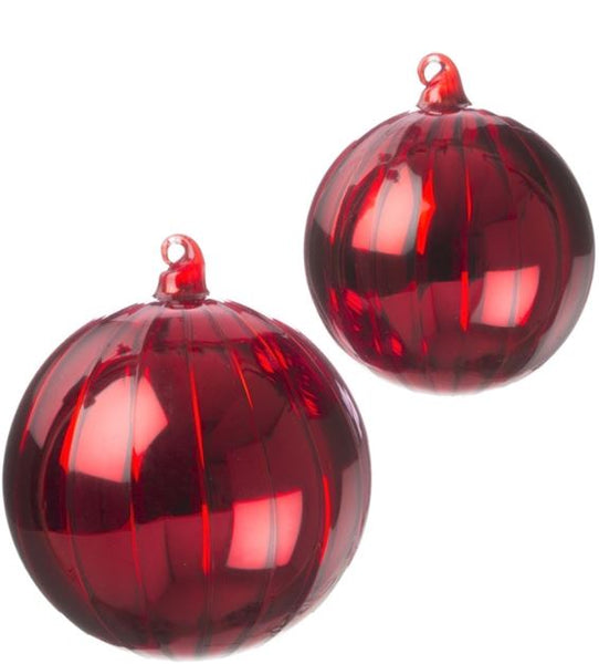 Red Glass Ball Ornaments