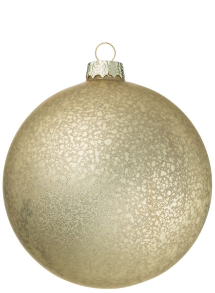matte gold ball ornament
