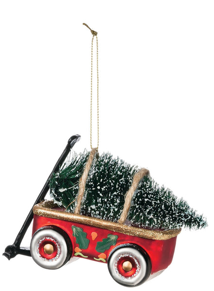 Wagon with tree ornament