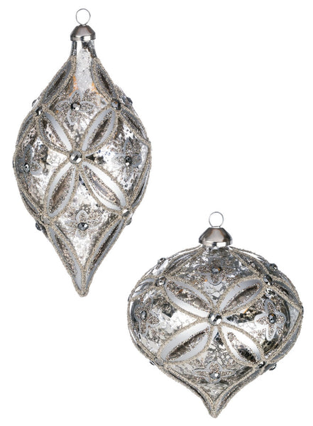 Silver Mercury Finial Ornament