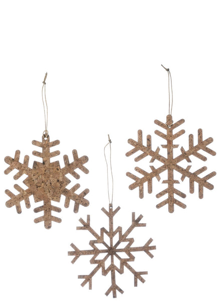 Cork snowflake ornament