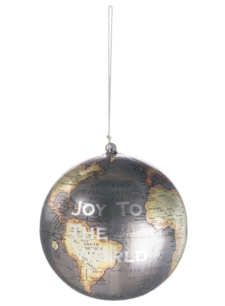 joy to the world globe ornament