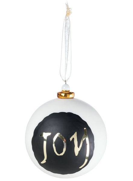 Joy Glass Ball Ornament