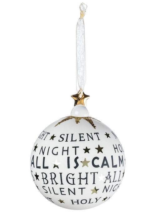 Silent Night Glass Ball Ornament