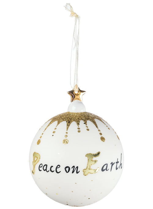Peace Glass Ball Ornament