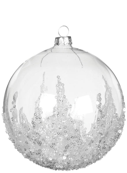 Beaded Glass Ball Ornament