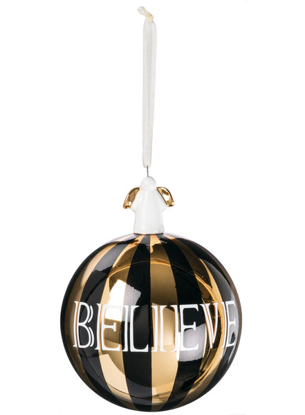 Believe Ball Ornament