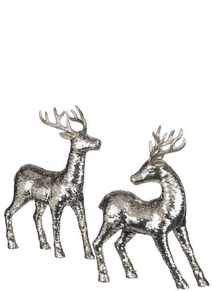 Sequin gold and silver deer